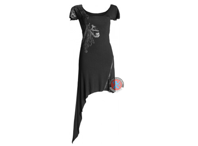 Asymmetrical Goth Dress By Queen Of Darkness