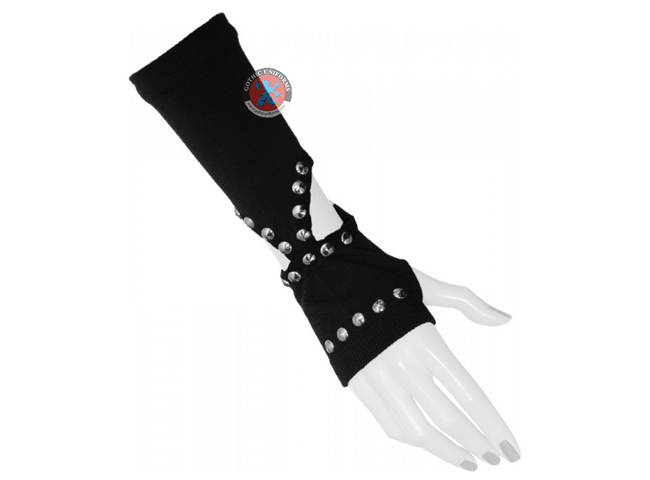 Black Goth Gloves With Holes