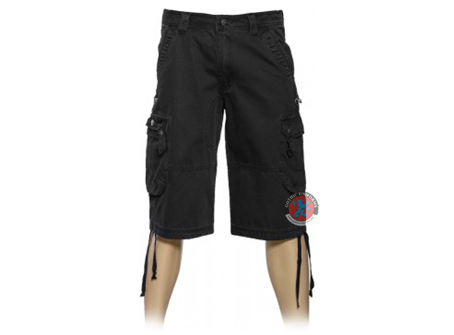 Black Gothic Cargo Shorts By Queen Of Darkness