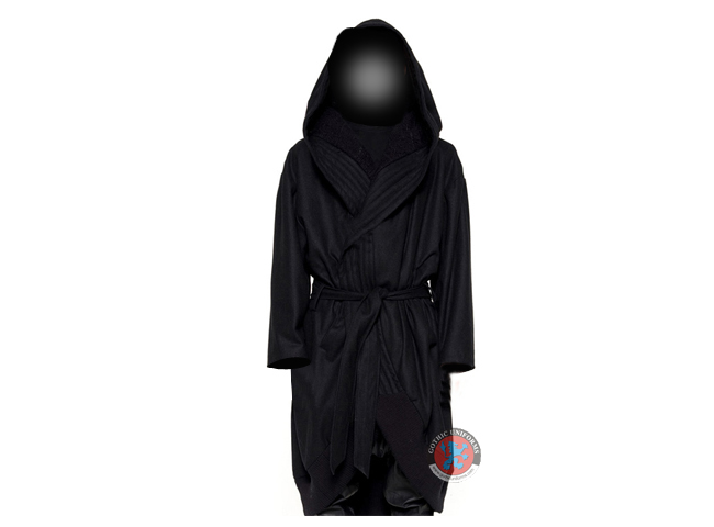 Gothic Black Gents Hooded Robe