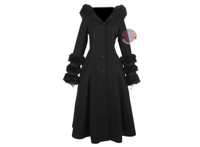 Black Ladies Gothic Winter Coat