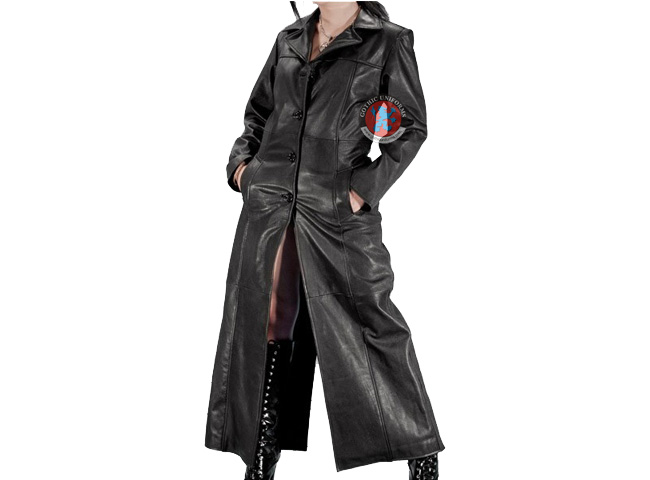 Dawnrazor Long black women coat