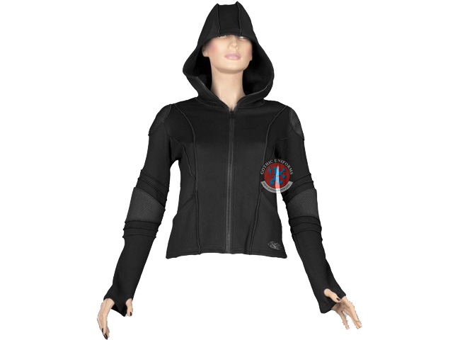 Deadsquad Gothic cyber jacket with hood