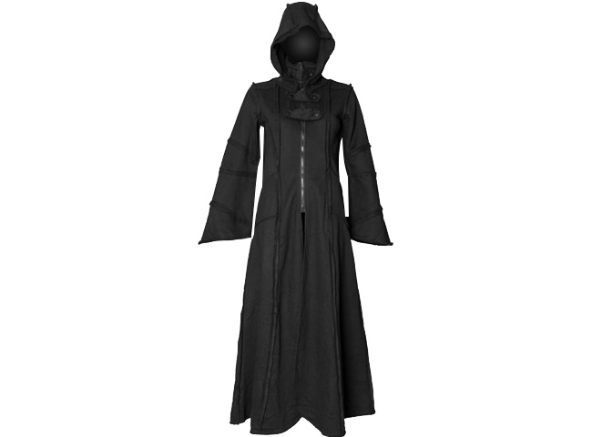 Death ShroudBlack hooded coat