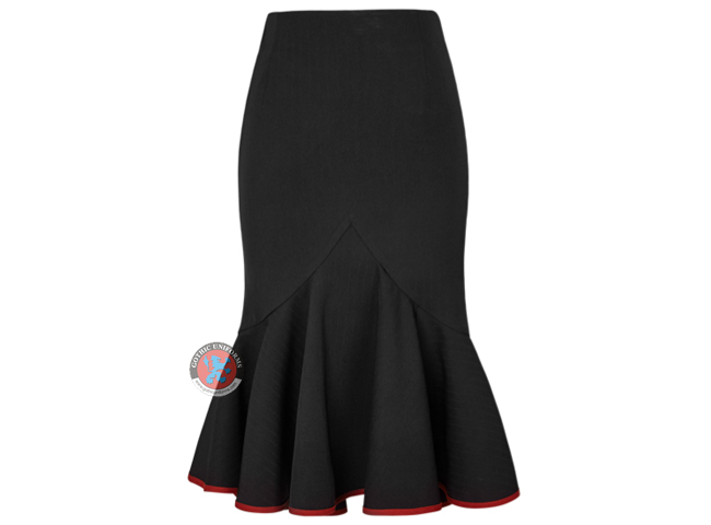 Drawstring Fishtail Militry Uniform Skirt Kilt