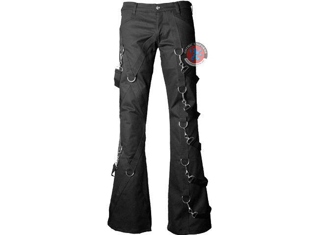 Entropy Black gothic bondage pants