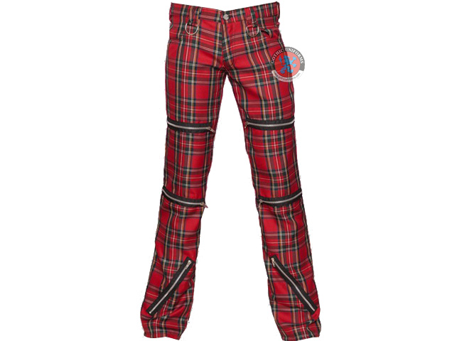 Evilution RED Red tartan mens pants