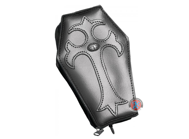 Genuine leather coffin purse by Alchemy Gothic