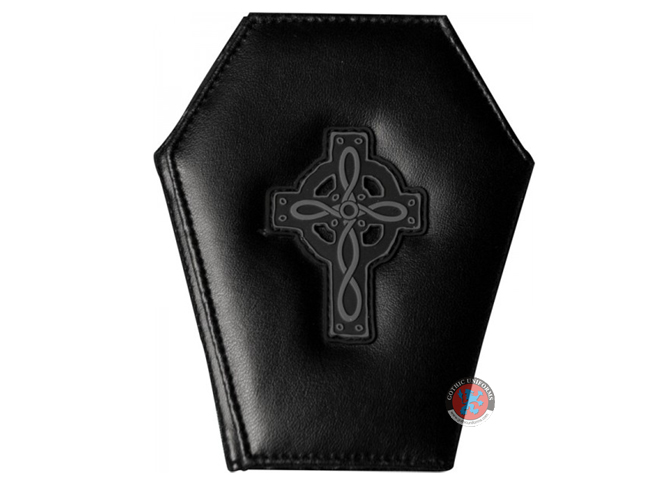 Genuine Leather Cross Coffin Wallet