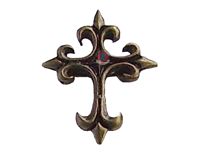 Gothic cross brooch