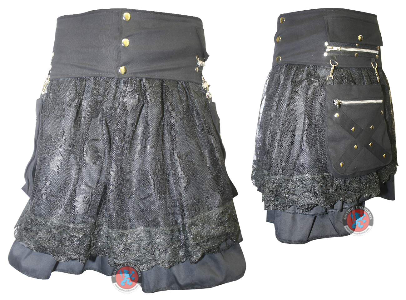 Ladies Black Color Skirt with Net
