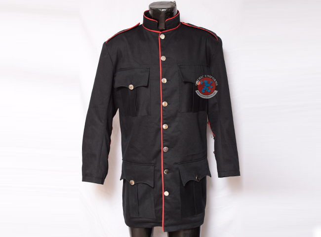 Raven SDL Officers Jacket Black Red Piping
