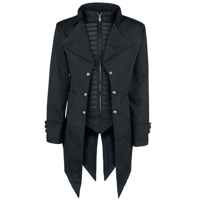 Men Victorian Gothic Tailcoat Steampunk Black Alternative Jacket Style Coat