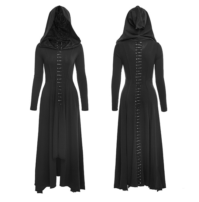 Women Dark Arts Gothic Fashion Dress Long Black