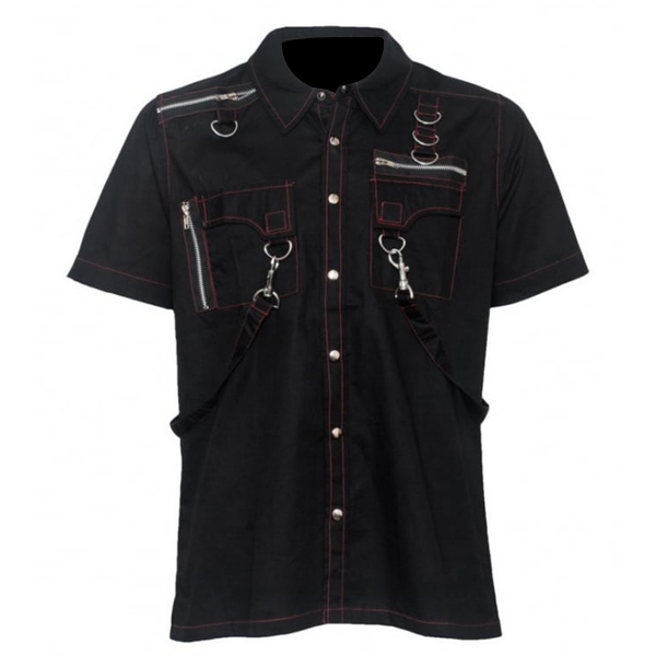 Men Gothic Short Sleeve Shirt