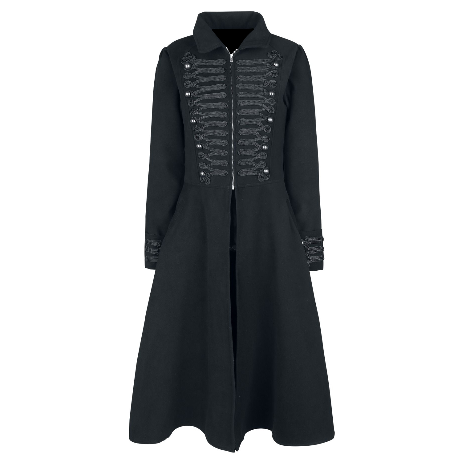 Women Gothic Military Style Long Coat