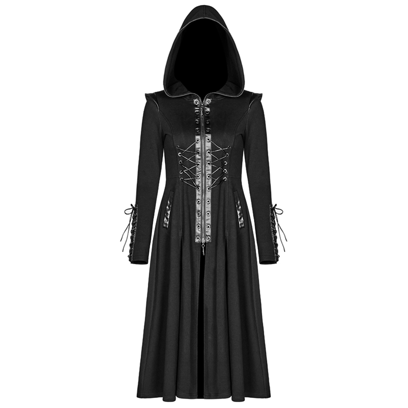 Women Gothic Long Coat Hooded