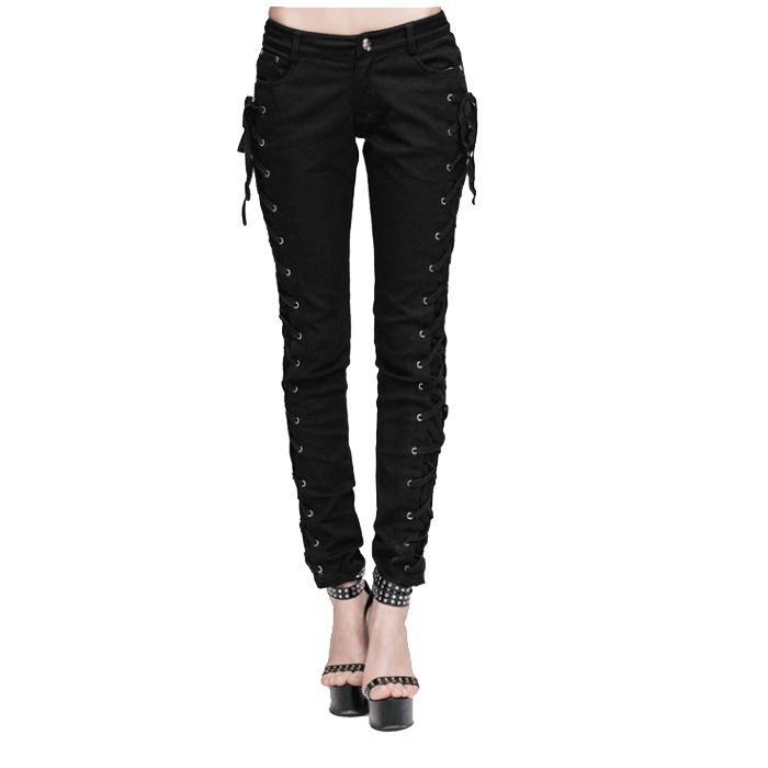 Women Gothic Lethia Side Lace Trousers