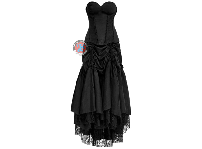 Linen Laced Gothic Dress