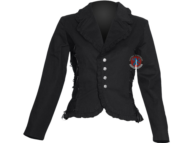 Poltergeist Black gothic jacket for women