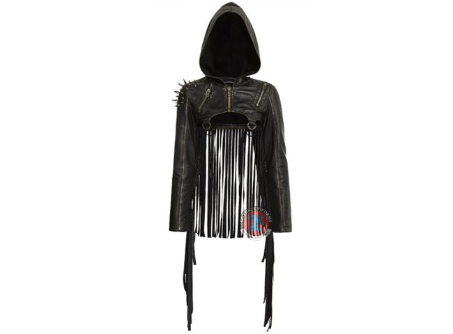 Short Tassel Punk Coat with hooded