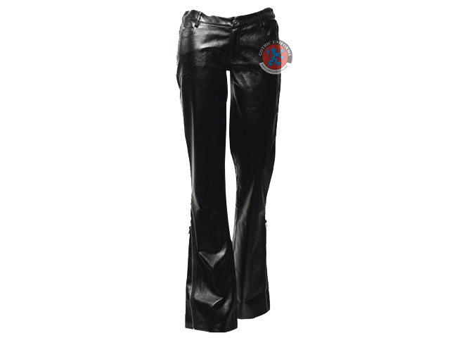 Slithering Silhouette Black PVC womens pants