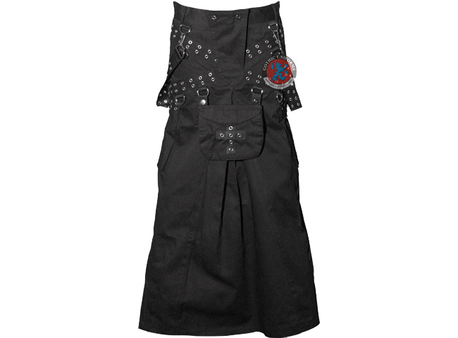 Spook Machine Black gothic mens skirt