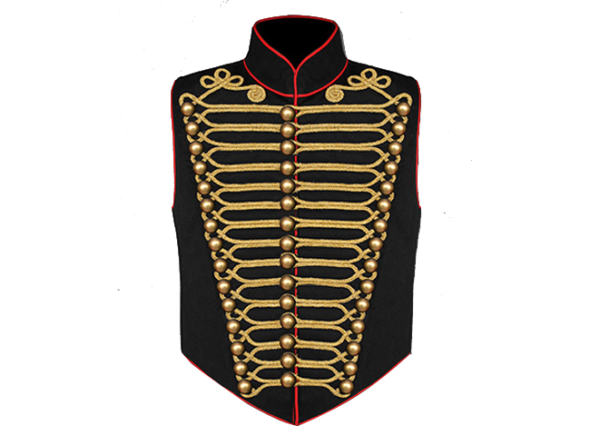 STEAMPUNK MILITARY WAISTCOAT - BLACK and GOLD