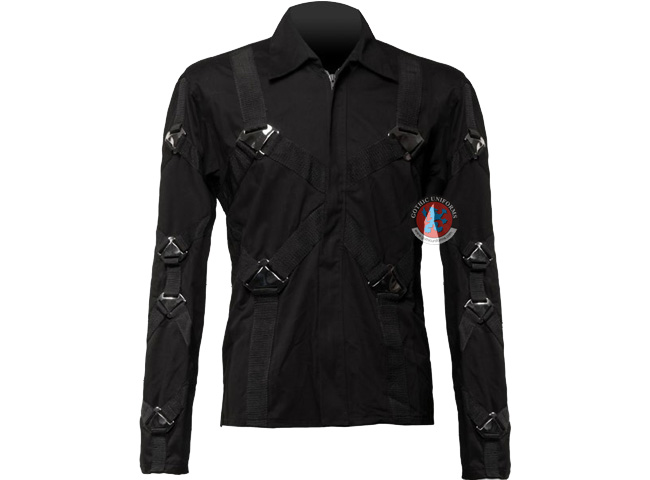 The Horde Gothic zipper shirt