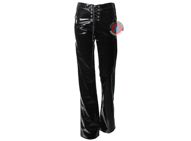 Tumbled Toy 80s style PVC goth pants with front lacing