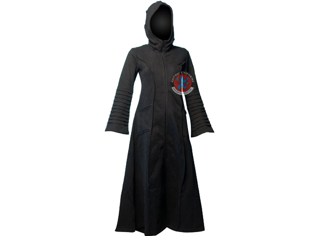 When Death had no Name Black gothic fleece coat