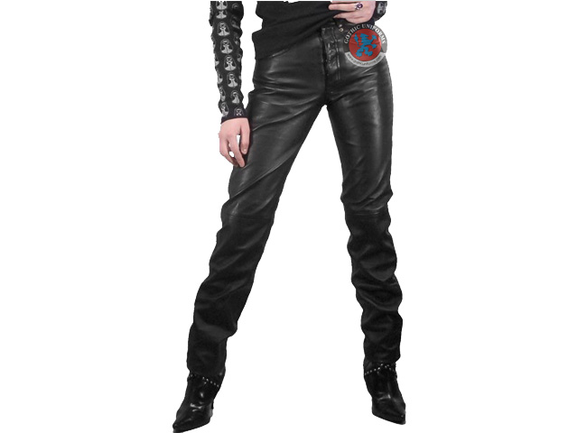 Young Gun Gothic unisexs pants made from genuine black leather